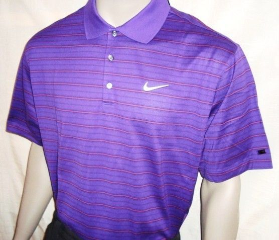 Nike Tiger Woods 4 Color Stripe Tour Golf Polo Shirt (555)